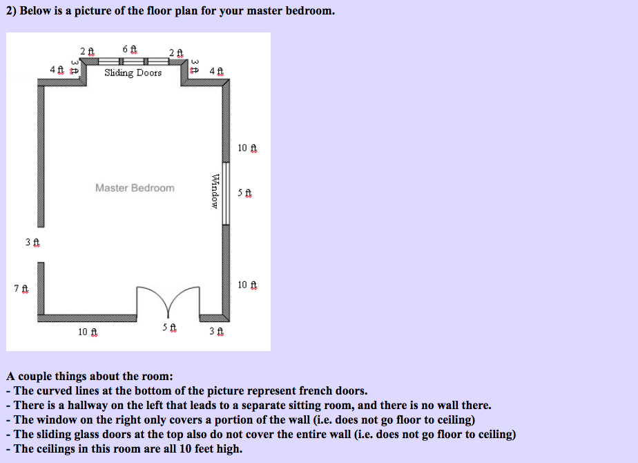 Solved 2 Below Is A Picture Of The Floor Plan For Your M