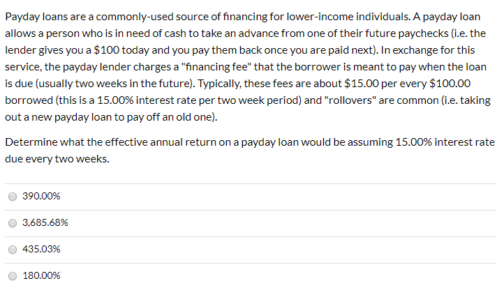 score payday loan using 0 consideration