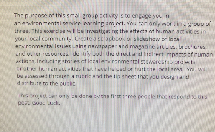 Environmental service group think