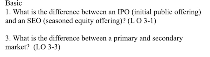 What is the difference between ipo and seo