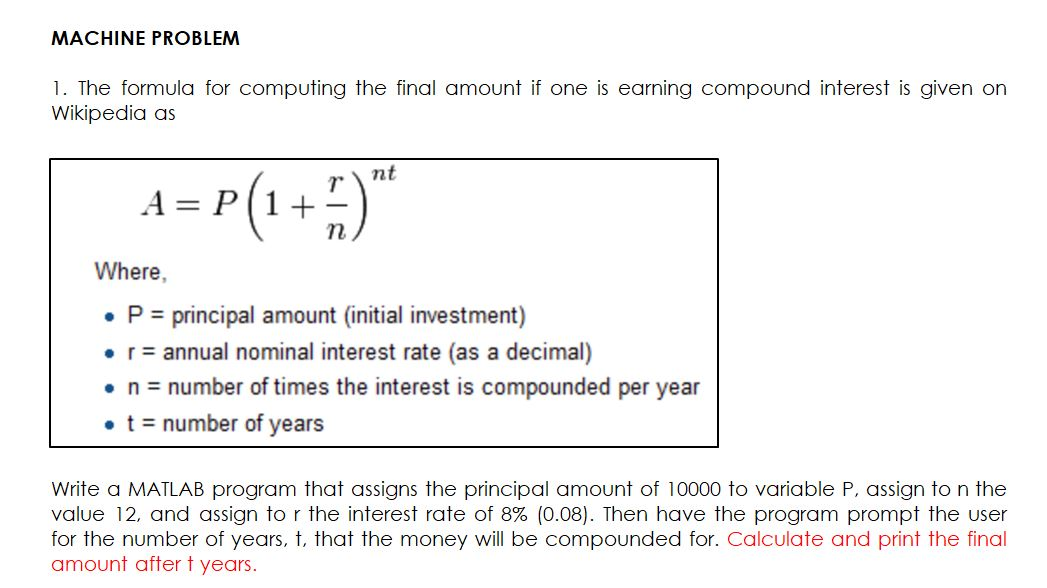 math of investment wikipedia