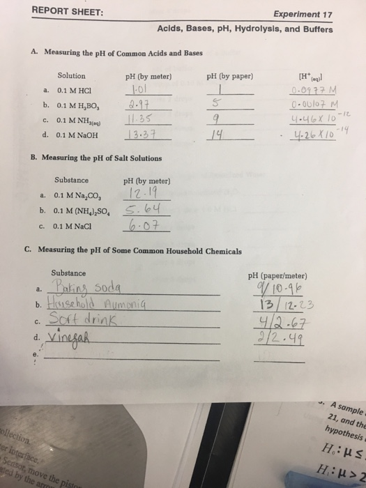 acids bases and salts lab report