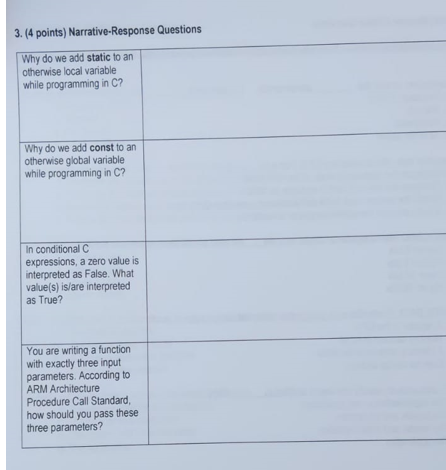 Solved: 3  (4 Points) Narrative-Response Questions Why Do