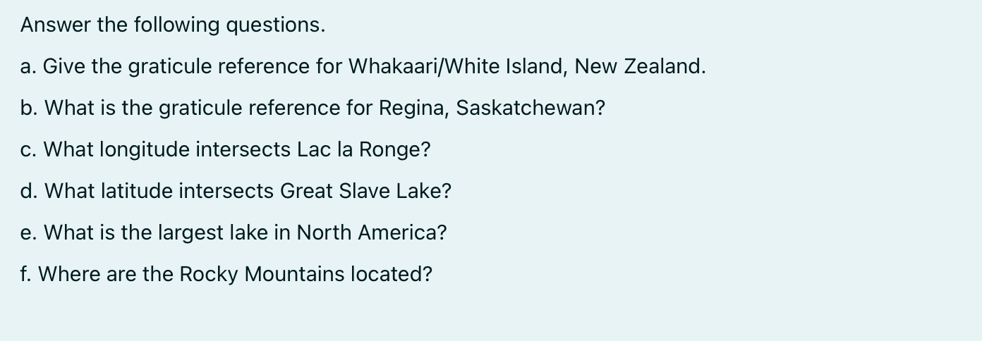 Answer the following questions. a. Give the graticule reference for Whakaari/White Island, New Zealand. b. What is the gratic