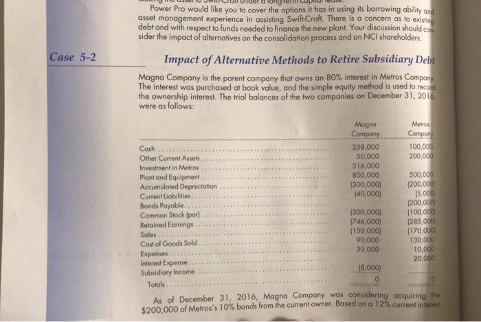 Book value method consolidating debt