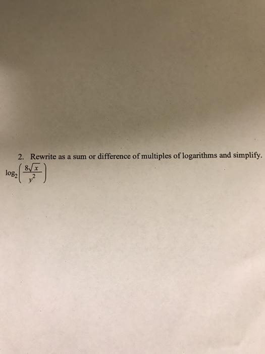 rewriting logarithms