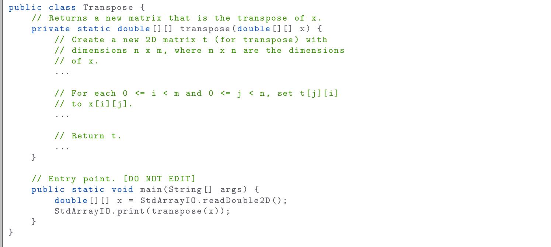 print 2d array java