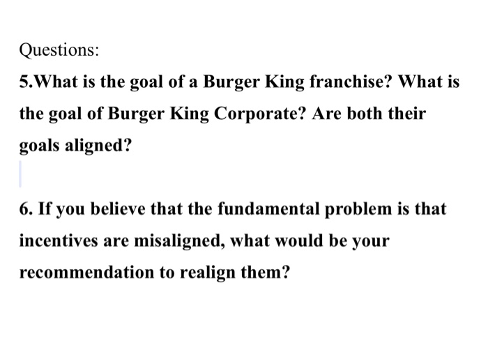 case assignment burger king