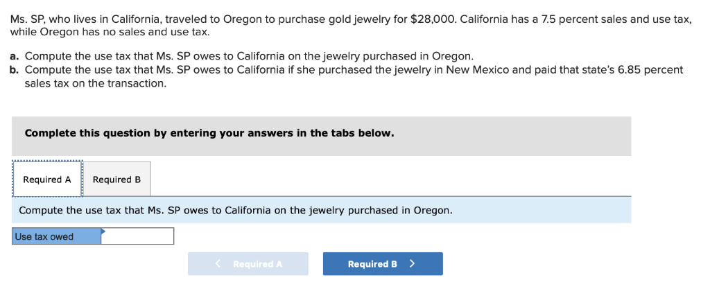 Solved: Ms  SP, Who Lives In California, Traveled To Orego