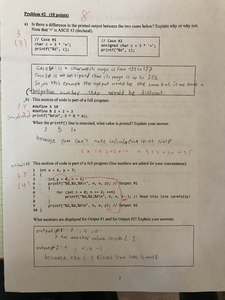 Problem #2 (10 Points) A) Is There A Difference In