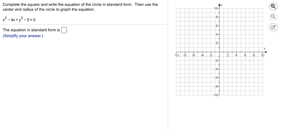 solved 10 complete the square and write the equation of t