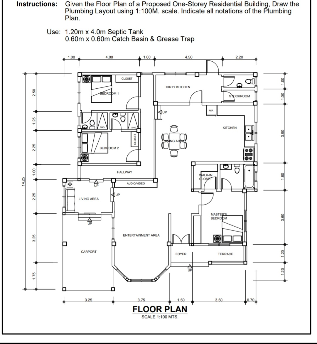 Instructions Given The Floor Plan Of A Proposed Chegg Com