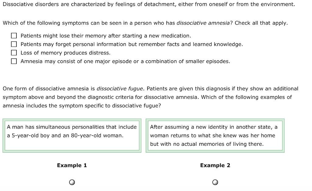 dissociative fugue examples