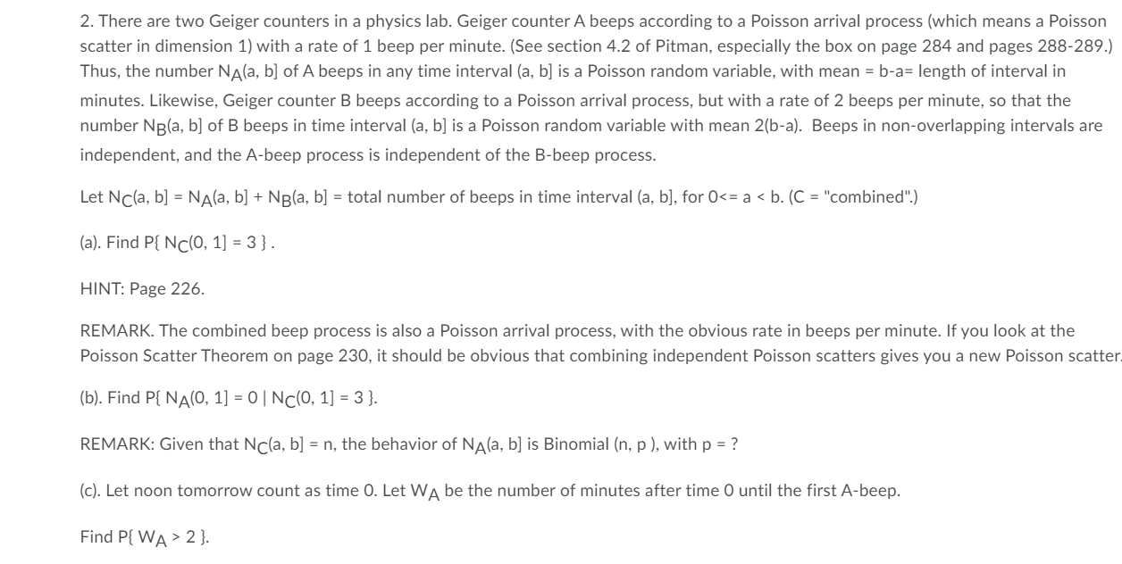 D Find A Formula For P Wa T For Any T 0 Chegg Com
