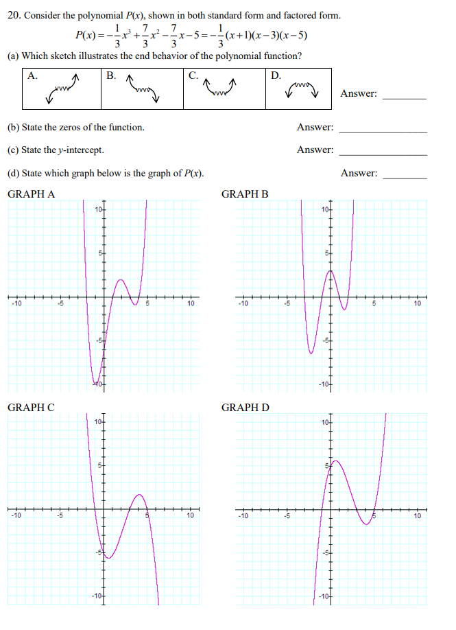 standard form to factored form  Solved: 9. Consider The Polynomial P(x), Shown In Both St ...