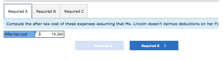 Solved: Ms  Lincoln Paid $14,340 Of Medical Expenses This