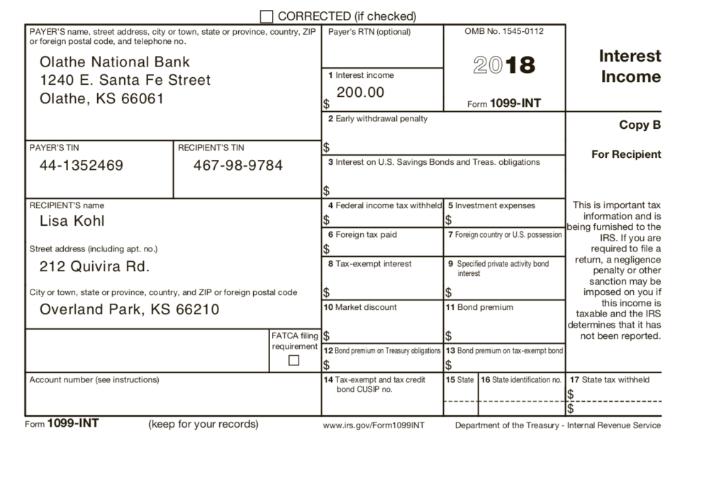 Complete Lisa's Federal Tax Return For 2018  Use F