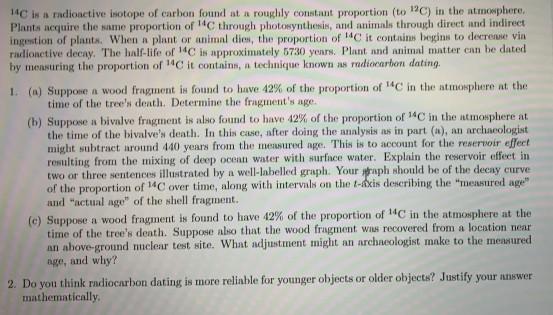 Carbon dating matte hjelp