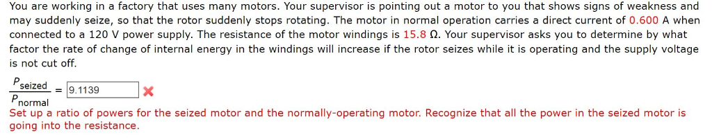 Solved: You Are Working In A Factory That Uses Many Motors