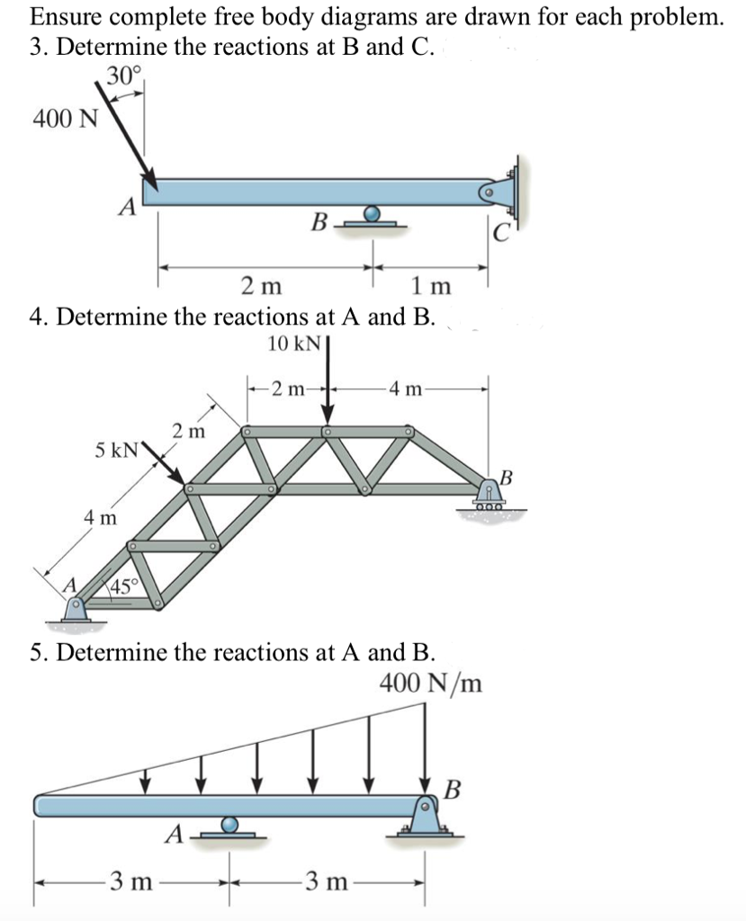 image for 1 draw the freebody diagram and determine the