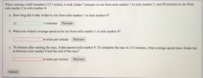 Miles per minute running average