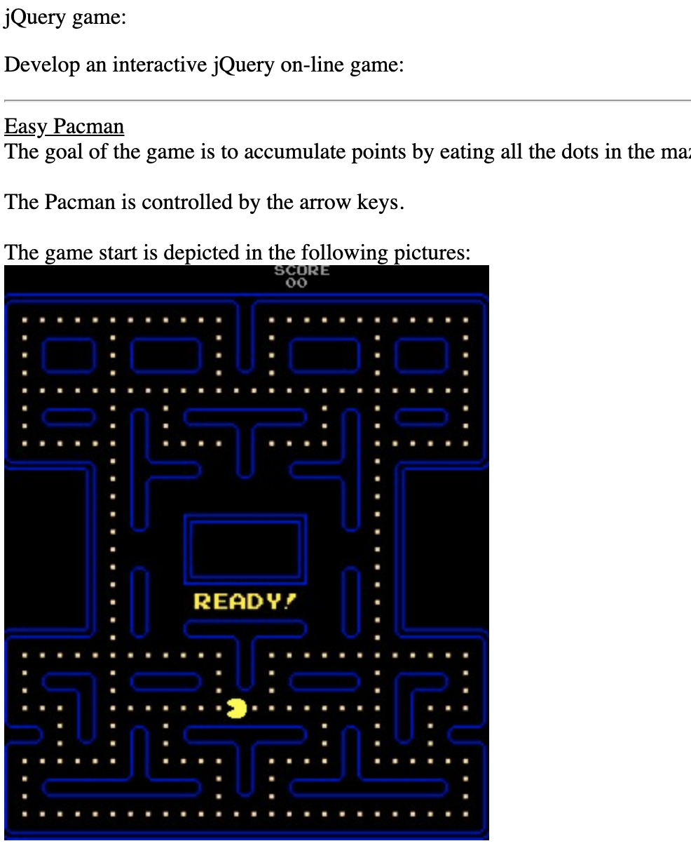 JQuery Game: Develop An Interactive JQuery On-line