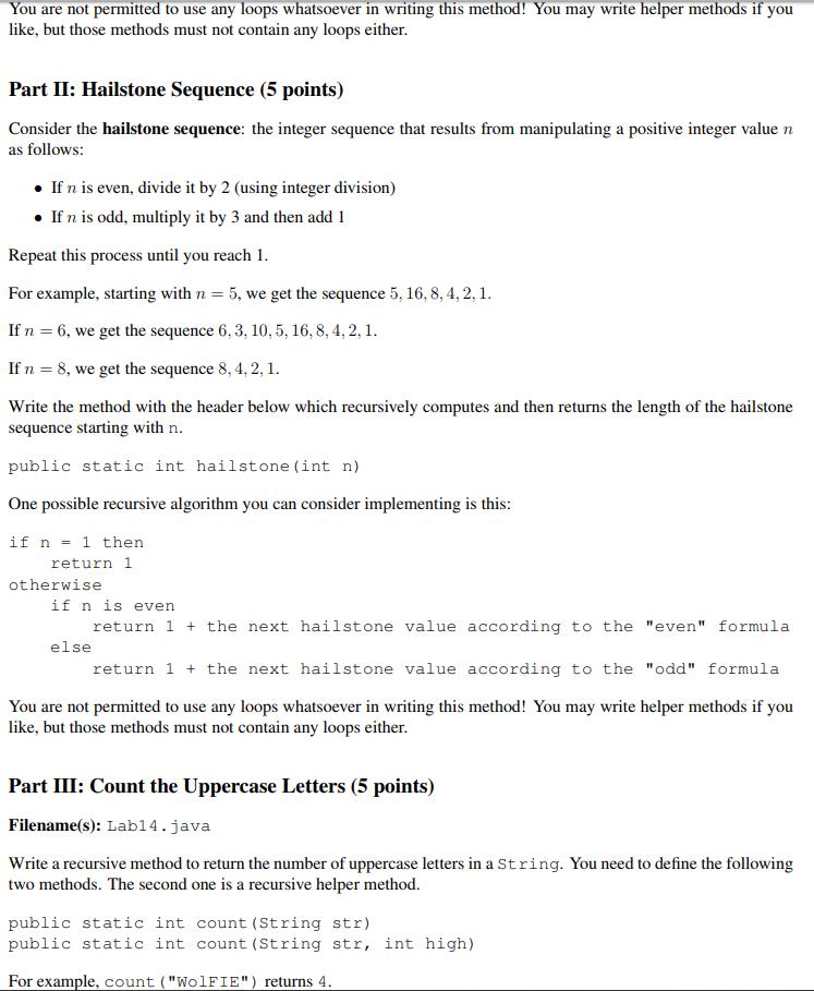 Solved: Public Class Lab14 { Public Static Void Main(Strin