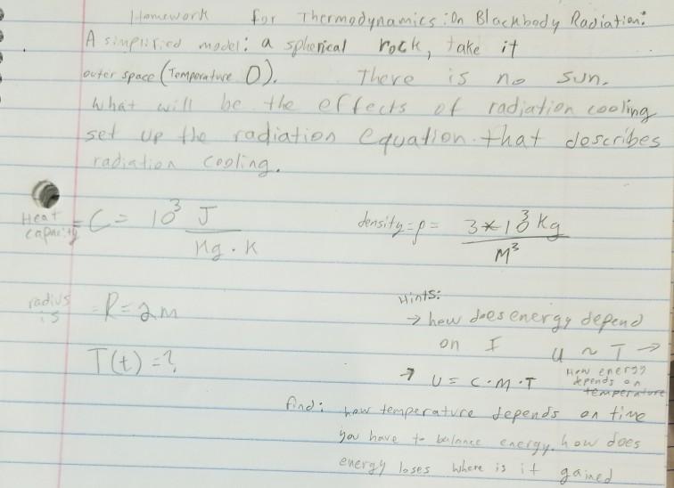 Homework blackbody radiation solution custom letter ghostwriters website for college