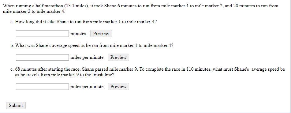 Miles per minute running average