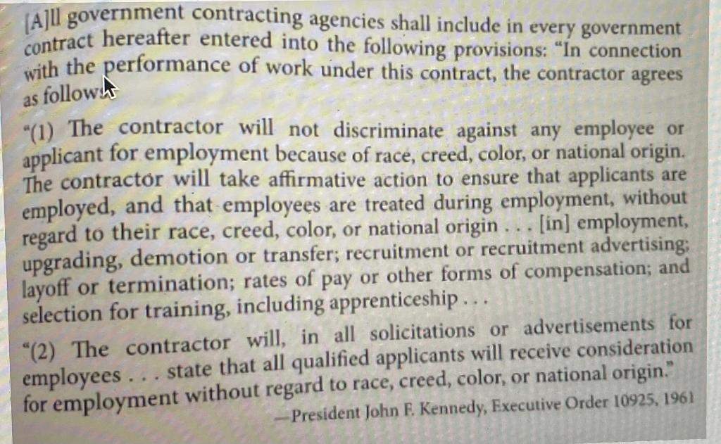 (All government contracting agencies shall include in every government contract hereafter entered into the following provisio