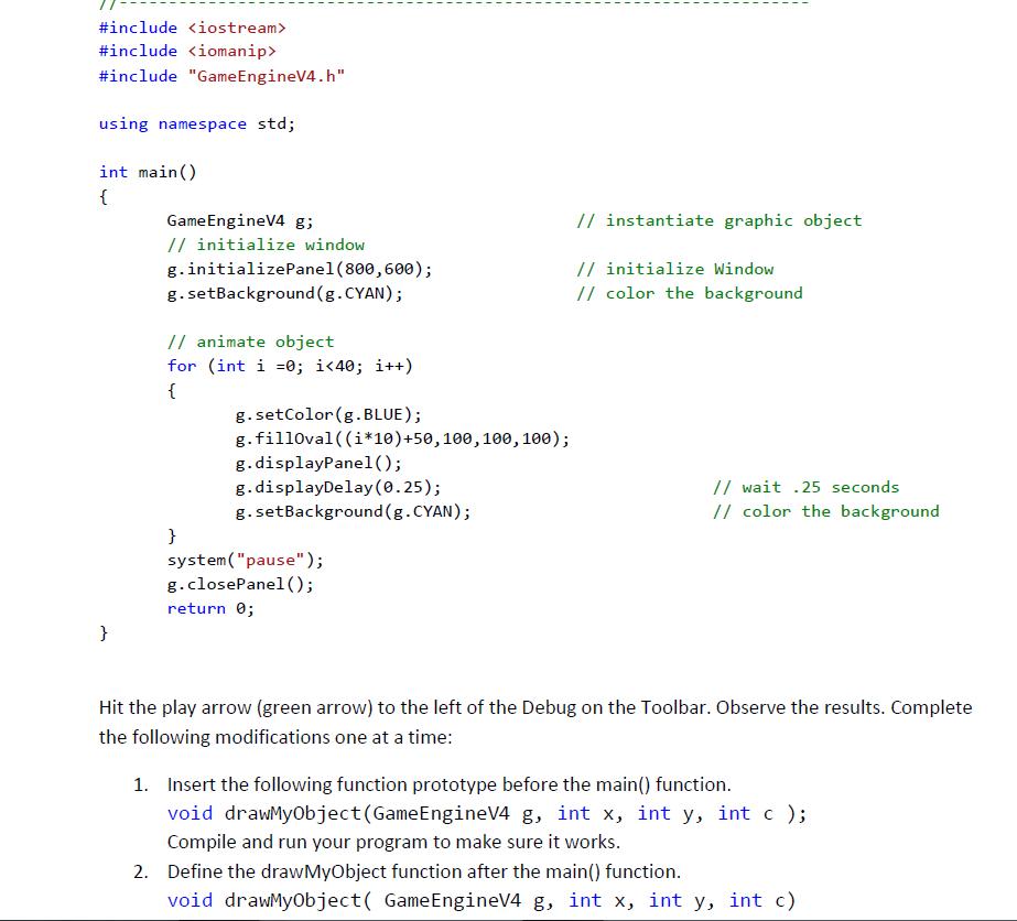 - - -- - - - - - - - - - - - - - - - - - - - - - - - - #include <iostream> #include <iomanip> #include Game EngineV4.h usin
