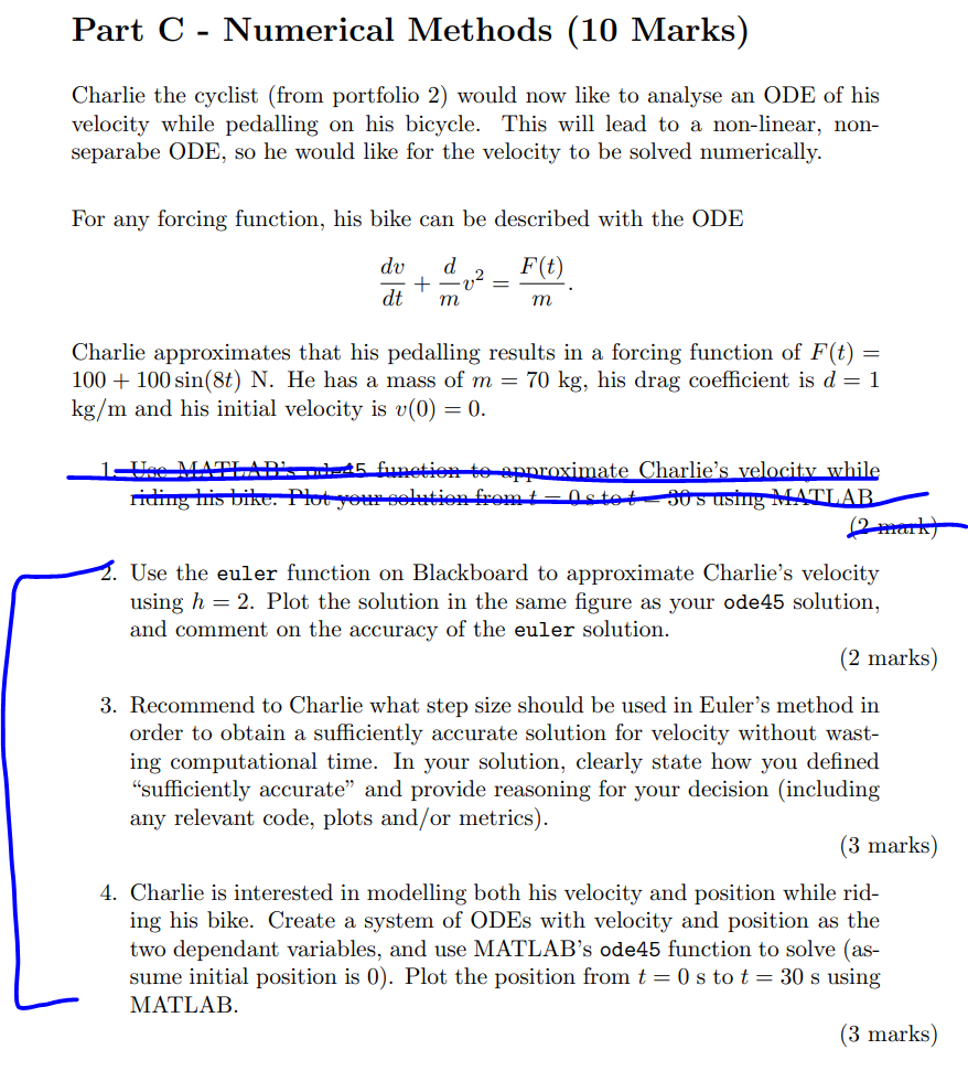 Code Given For Q2 Function T Y Euler Odefun T Chegg Com Below is the code that i am using if you need it. euler odefun t