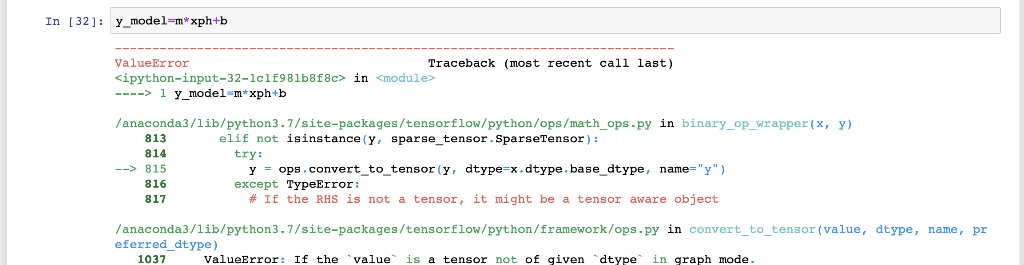 Solved: I Am Getting Tensorflow python framework ops Tenso