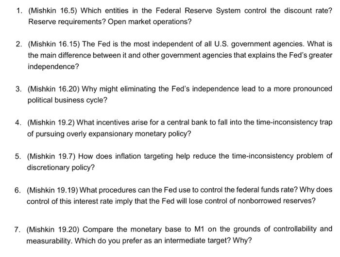 the federal reserve system quizlet