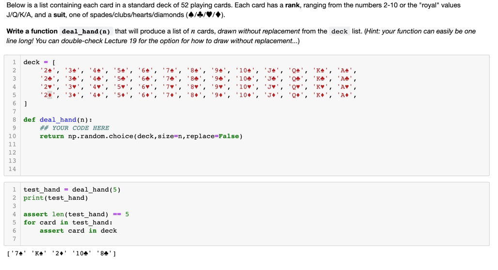 Solved Python Poker Hands I Have The First Part Already Chegg Com