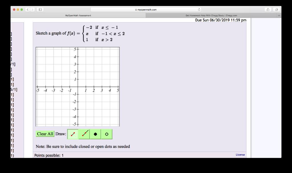 Solved: Myopenmath com Get Homework Help With Chegg Study
