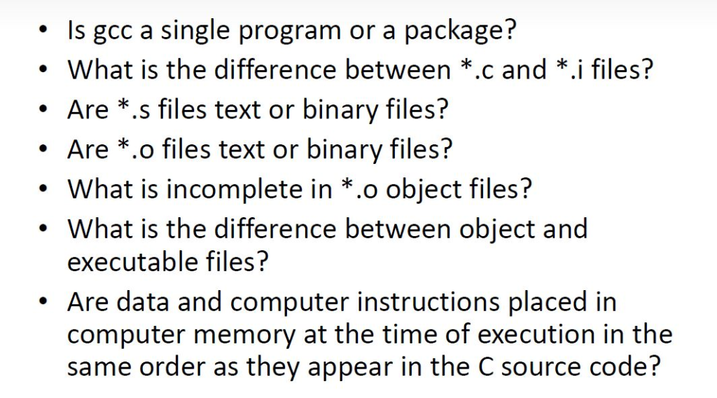 Solved: Is Gcc A Single Program Package? Or A What Is The