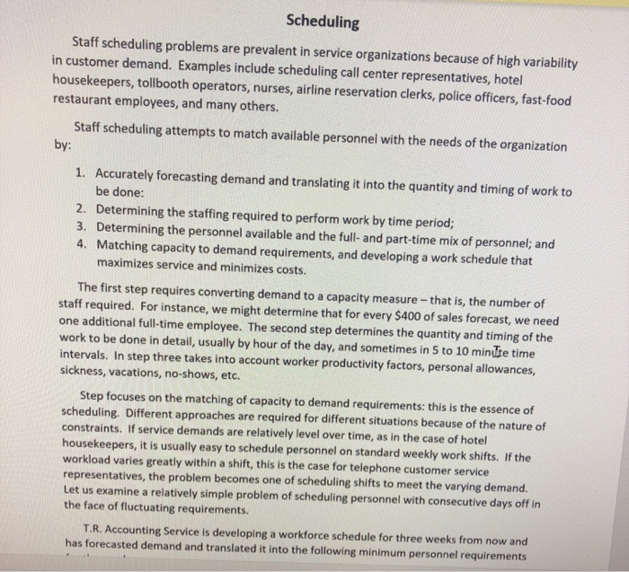 Scheduling Staff Scheduling Problems Are Prevalent