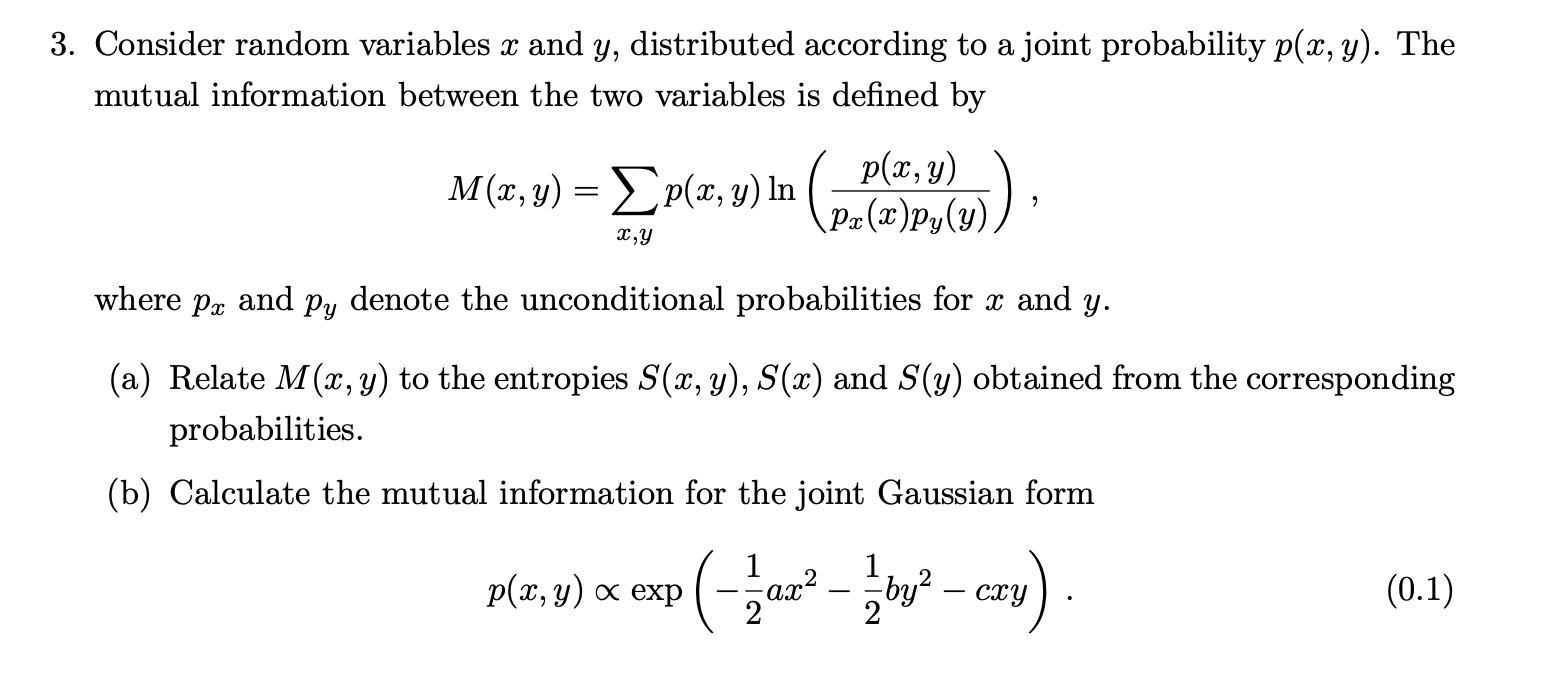 Gaussian mutual information homework best article ghostwriter service for mba