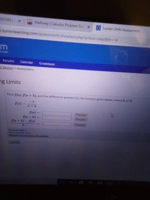 Solved: EGANX M Mathway   Calculus Problem Sol Lumen OHM A ... on