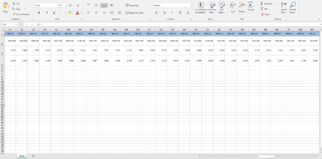 The File USmacrodata xlsx Contains U S  Quarterly