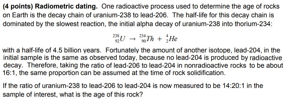 Uranium 238 dating rocks using radioactive decay