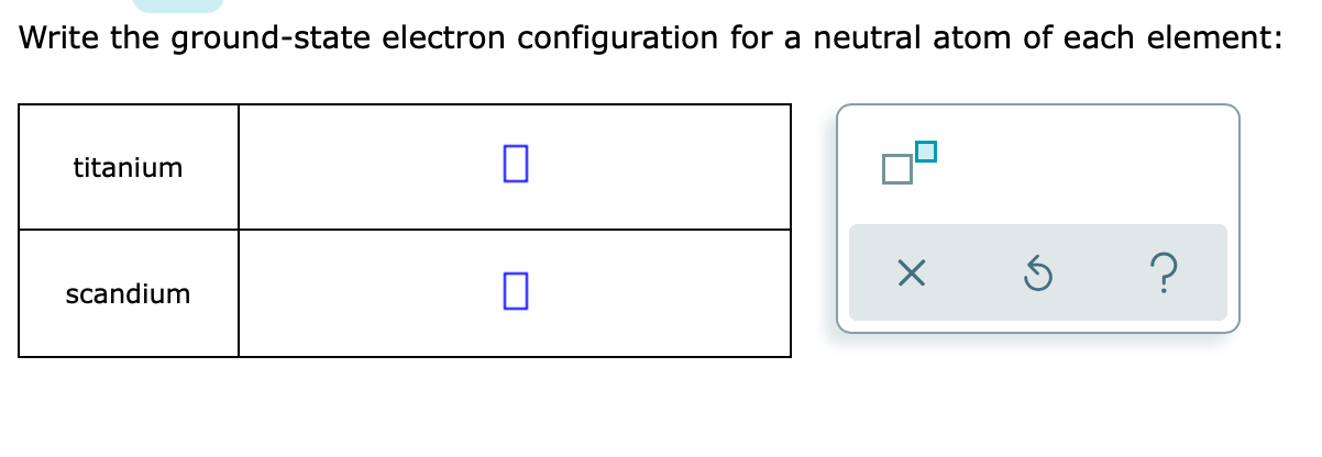 Solved Write The Ground State Electron Configuration For Chegg Com