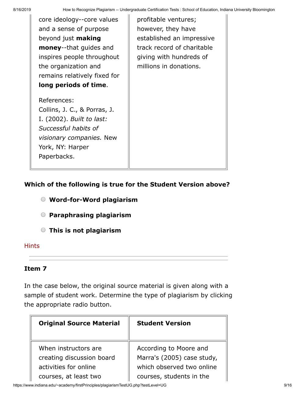 Solved: 8/16/2019 How To Recognize Plagiarism -- Undergrad ...