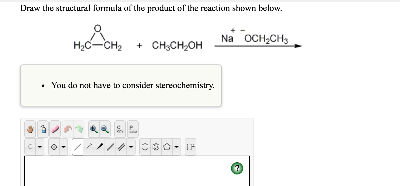 Solved: Draw The Structural Formula Of The Product Of The ...