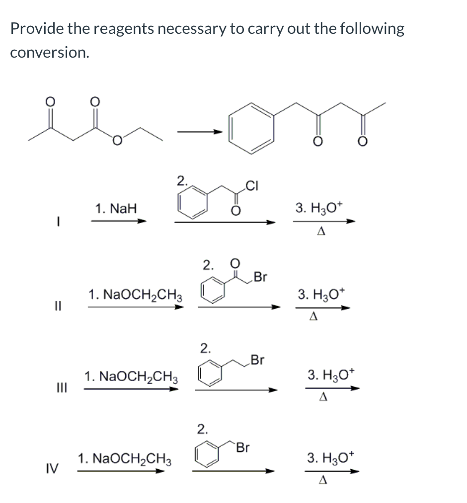 Solved Provide The Reagents Necessary To Carry Out Fo Chegg Com