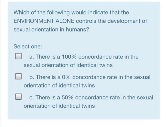 Non heterosexual orientations