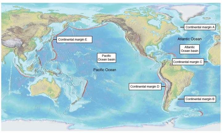 Solved: Part B - Ocean Basin Size And Continental Margins ...