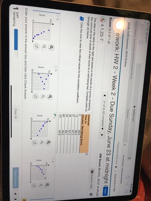 Solved: B 88% Mathxl com Course Syllabus- ELEMENTARY STATI