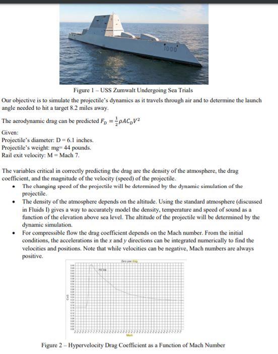 To00 Figure 1 -USS Zumwalt Undergoing Sea Trials O    | Chegg com